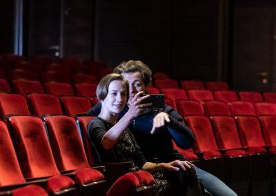 Graf und Pola bei der Arbeit im Gerhard Hauptmann Theater in Zittau